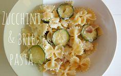 Zucchini and brie pasta