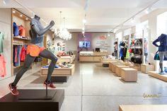 #store #sportstore #sportsstore #sportladen #sportladenwien #geschäftseinruchtung #storeinterior Interior Design Studio, Store Design, Loft, Desk, Running, Furniture, Home Decor, Projects, Nest Design
