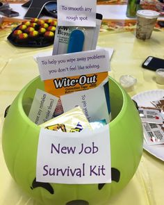 New Job Survival Kit:Prepare For The Fashion Industry - She Is Melrose Office Survival Kit, New Job Survival Kit, Survival Kit Gifts, Gift For Coworker Leaving, Goodbye Gifts For Coworkers, Creative Birthday Ideas, Birthday Ideas For Her, Employee Appreciation Gifts, Employee Gifts
