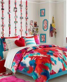 Teen Vogue Poppy Art Comforter Set - Bed in a Bag - Bed & Bath - Macy's