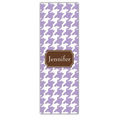 Lilac Houndstooth Personalized Yoga Mat