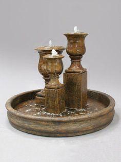 Elegant Urn Trio Outdoor Water Fountain