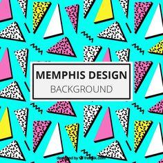 Light Blue Background With Triangles Pop Art Decor, 80s Design, Memphis Pattern, 80s Pop, Memphis Design, Light Blue Background, Screen Design, Kids Prints, Pretty Patterns
