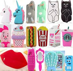 3D Cartoon Soft Silicon Phone Case Cover For Apple iPhone 4/4S 5/5S/5C 6/6S Plus