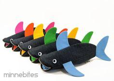 Bolsa de tiburón por MinneBites elige tu Color / por minnebites