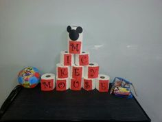 Mickey Mouse birthday bowling.  See more Mickey Mouse birthday party and kids birthday party ideas at www.one-stop-party-ideas.com