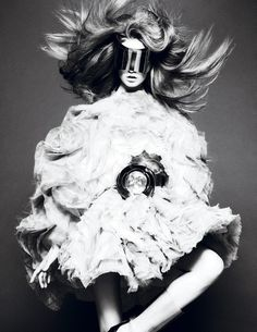 Frida Gustavsson wears Alexander McQueen in 'Back to the Future' by Mert & Marcus for Interview, September 2012.