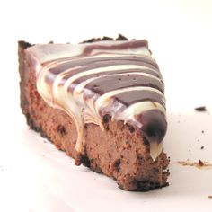 Smooth and creamy dark chocolate cheesecake covered in white and milk chocolate toppings….yum. INGREDIENTS: Crust: 9 oz. chocolate wafer cookies (I use chocolate animal crackers) 1/4 c. marga…