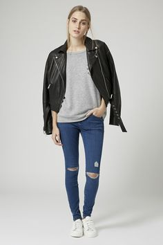 MOTO Ripped Leigh Jeans - Topshop
