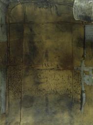 Antoni Tapies 'Grey Ochre', 1958 © Foundation Antoni Tapies, Barcelona/ADAGP, Paris and DACS, London 2015