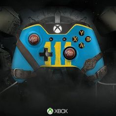 Whoa, crazy modified Xbox One controller: Fallout 4. I loves it <3