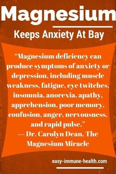 Sufficient levels of magnesium can keep anxiety at bay.