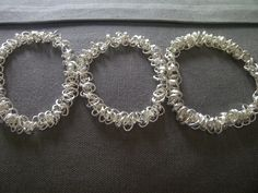 Bridesmaid silver Bracelets by weeminxjewelry on Etsy. $50.00, via Etsy.