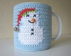 Crochet pattern snowman mug cozy | crochet pattern Christmas | mug cozy Xmas | crochet pattern cup cozy | snowman | cozy | coffee sleeve - Edit Listing - Etsy