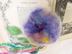 needle felted flower enchanted forest bookmark by beautifulplace, $13.00