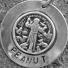 St. Francis tag. Dog needs a new one like this!
