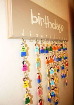 DIY Family Birthday Calendar Sign Special Dates Planner Boad Plastic Hanging Decoration