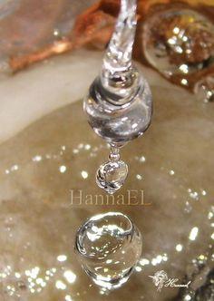 Fotografia. Gotas de agua. Con corazon