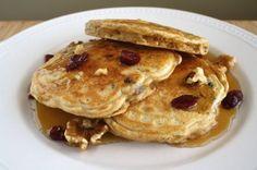 Cranberry Walnut Ginger Pancakes