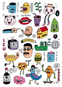 funny doodles - funny doodles - funny doodles easy - funny doodles sketches - funny doodles hilarious - funny doodles draw - funny doodles humor - funny doodles for boyfriend - funny doodles cute Art Sketches, Art Drawings, Graphic Illustration, Illustrations, Funny Doodles, Otto Schmidt, Arte Sketchbook, Simple Doodles, Poster S