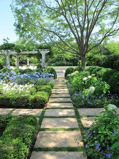 Square Stone Garden Path
