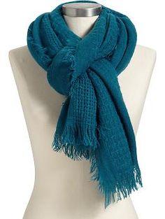 Women's Fringed Open-Weave Scarves | Old Navy