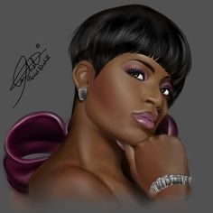 Fanatsia Barrino by Peniel Enchill Fantasia Barrino, Black Artwork, My Black Is Beautiful, Beautiful Images, Afro Art, African Diaspora, Walk By Faith, Godly Woman, Virtuous Woman