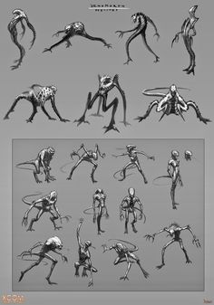 I am finally able to post some of the work I did for the XCOM franchise, both for the DLC (known as Slingshot ) and the expansion (known a. Character Design Sketches, Game Character Design, Fantasy Character Design, Character Art, Monster Concept Art, Fantasy Monster, Monster Drawing, Monster Art, Creature Concept Art