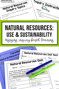 Grade 7 Geography Natural Resources Around the World Use and Sustainability Geography Lesson Plans, History Lesson Plans, Geography Activities, Teaching Geography, Ontario Curriculum, Learning Resources, Teaching Ideas, Secondary Teacher, Middle School English