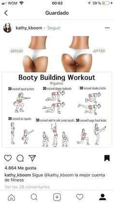 Fitness goals, fitness workouts, butt workout, at home workouts, fitness di Fitness Workouts, Summer Body Workouts, Gym Workout Tips, Fitness Workout For Women, Easy Workouts, Workout Challenge, Workout Videos, Fitness Motivation, Fitness Goals