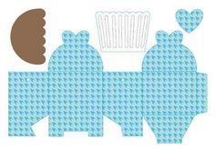 como fazer caixinha de papel para cupcake para imprimir - Pesquisa Google