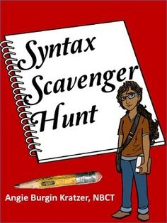 Parallel structure got you down? Pulling your hair out trying to teach syntax to students with a weak grammar background? This simple two-page scavenger hunt is a way to bring a little fun into your classroom. $1