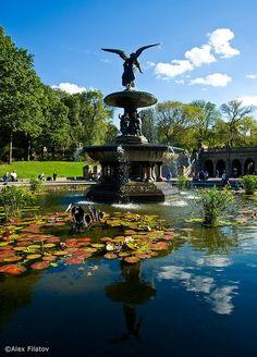 bethesda fountain, central park nyc.
