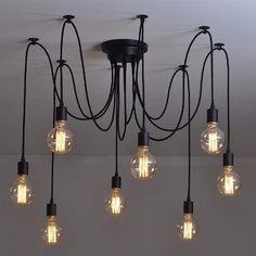 Lámpara Candil Araña Vintage Colgante Industrial