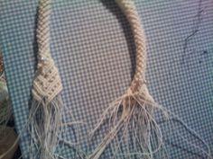 Inizio lavorazione borsa Macrame Bag, Macrame Knots, Tutorials, Happy, Handmade, Ideas, Shoe, Bags, Clutch Bags