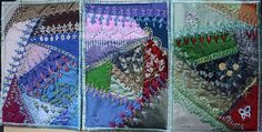 I ❤ crazy quilting & embroidery . . .  Cards ~By Ritva Peltola