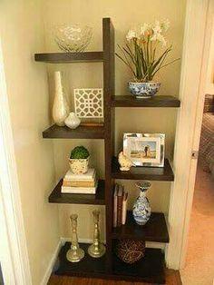 Ideas craft room diy shelves small spaces for 2019 Diy Furniture, Furniture Design, Corner Furniture, Wall Shelves, Kitchen Shelves, Bathroom Shelves, Kitchen Storage, Wall Bookshelves, Kitchen Nook