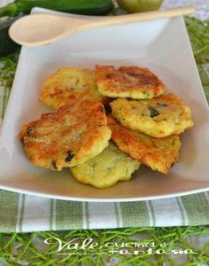 Frittelle di zucchine con patate e parmigiano
