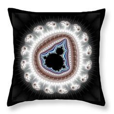 Throw pillow: Abstract fractal art, beautiful colored Mandelbrot set, balanced and full of serenity. All throw pillows are available in multiple sizes. Matthias Hauser hauserfoto.com - Art for your Home Decor and Interior Design needs.