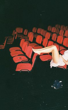 i love empty theaters and being able to put my bare feet up