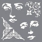 DecoArt, Andy Skinner stencil, #Andy52, Baroque 6x6