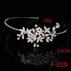 F019 Wedding Coronal Tiara Rhinestones Crystal Bridal Headband Pageant Silver Princess Crown