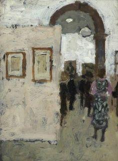Bernard Dunstan (b.1920) Opening of Vienna Secession Exhibition at the Royal Academy, 1971