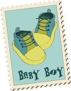 Scrapbook baby boy clipart