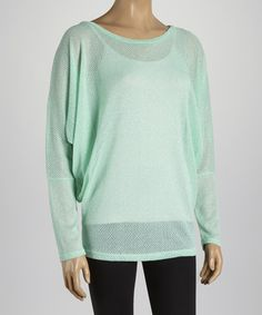 Take a look at the Mint Diamond Dolman Tunic on #zulily today!