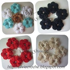 Silvia Gramani Crochê: Flores de Crochê - Tic Tac Brilho