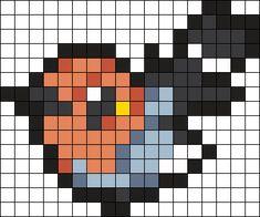 Pokemon_Fletchling by Hippocratessocrates on Kandi Patterns Pony Bead Patterns, Kandi Patterns, Perler Patterns, Beading Patterns, Image Pixel Art, Pokemon Cross Stitch, Pokemon Perler Beads, Pixel Drawing, Pix Art