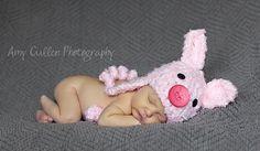 Baby Piggy Hat Baby Hat Pig Hat  Baby Hat  Infant by JojosBootique, $29.00