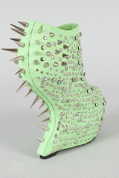 Privileged Rosewell Studded Spike Heel Less Curved Wedge Bootie $139.00