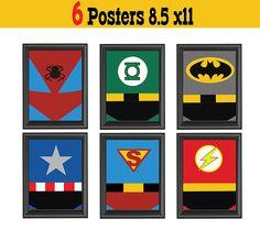 Superhero Stuff on Pinterest  Superhero Wall Art, Superhero and Stencil Templates